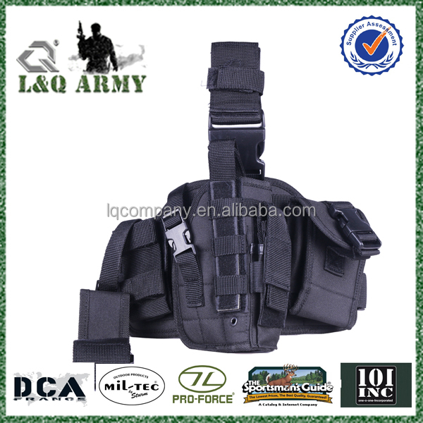 AC001 Tactical Drop leg holdster with Radio Pouch lefter hand