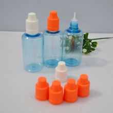 Fast shipping shrink band for e-liquid bottle PET with cheap cap and long tube ecigarette liquid