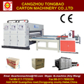 China supplier 2 color flexo printing slotting carton machine