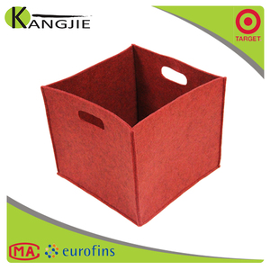 Customize Eco-Friendly Cotton Organizer Collapsible Household Felt Magazine Storage Basket