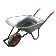 Shandong 85L large capacity galvanized wheelbarrow