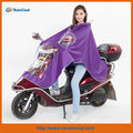 190t polyester purple motorcycle raincoat/raincoats