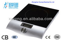 2000W knob control induction cooker H2 crystal panel