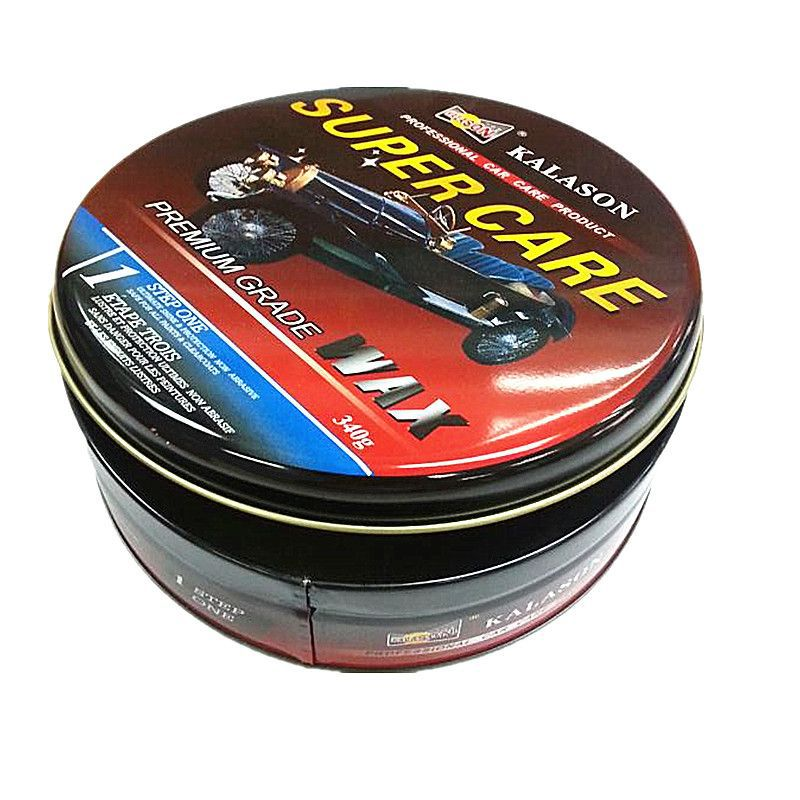 Exquisite Round Metal Car Wax Packaging Tin Can