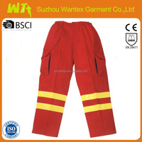 [Hot] Professional Reflective tapes Hi Vis 100% Polyester Safety Work Trousers work pants