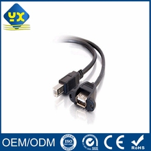 Panel Mount USB A Female to B Male Printer Extension Cable 0.3Meter