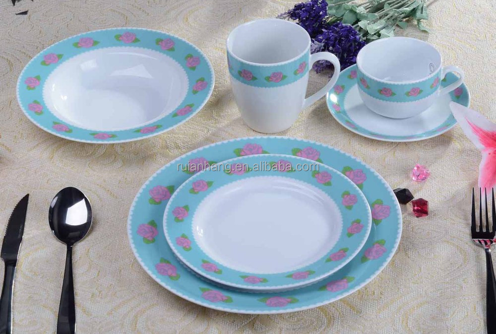 Upset the hot bone porcelain tableware dishes dishes suit with rose