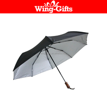 3 Fold 10 Panels Manual Umbrella with 50-inch Canopy Coverage and Attached Carrying Strap