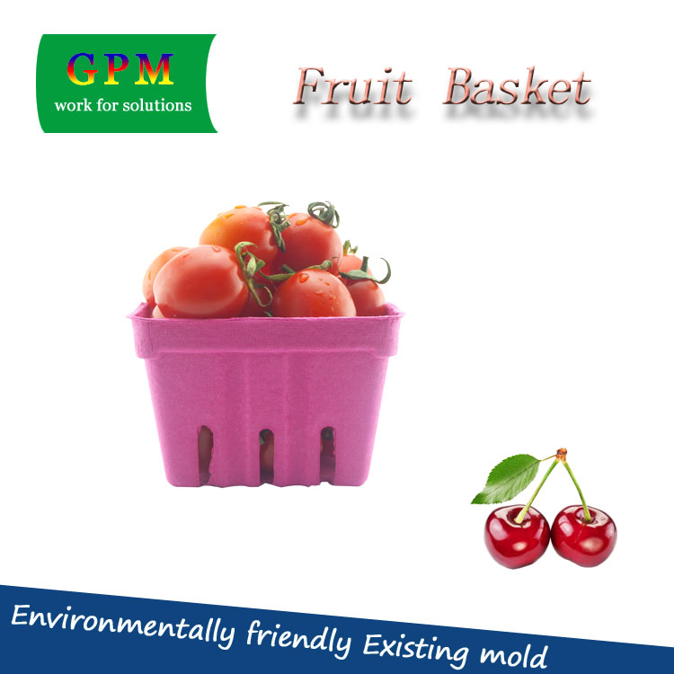 China Manufacturer Product Biodegradarble paper pulp fresh fruit / cherry container