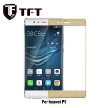 Hot sale. High Quality Touch Sensitive 3D Curved Full Cover Color Tempered Glass Screen Protector For Huawei P9