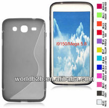S form TPU Gel Clear Case Cover for samsung galaxy mega 5.8 i9150