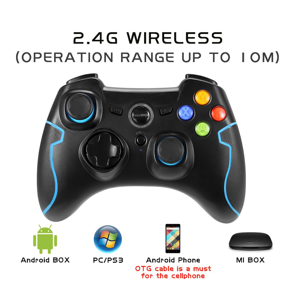 2.4Ghz USB connect Optical Wireless gamepad Gaming Controller for Professional Gamers