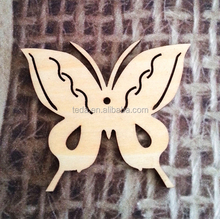 2014 hot sell laser cut handmade wooden butterfly hanging decoration/wooden Wedding Gift made in China