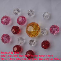 clear faceted acrylic beads