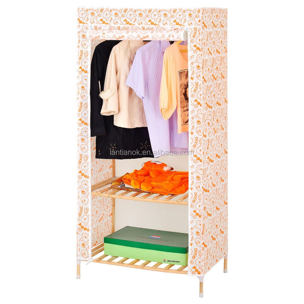 cheap price good sell wooden fabric wardrobe