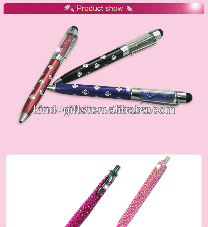 Hot Sale Bling Rhinestone Waterman Pens With Crystal China Factory
