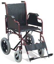 Stainless steel folding wheelchair/transport chair