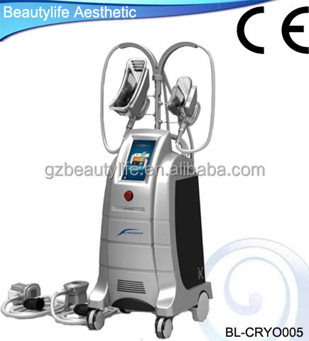 Stationary home use Cryolipolysis cellulite elimination machine with 4 handles for slimming body
