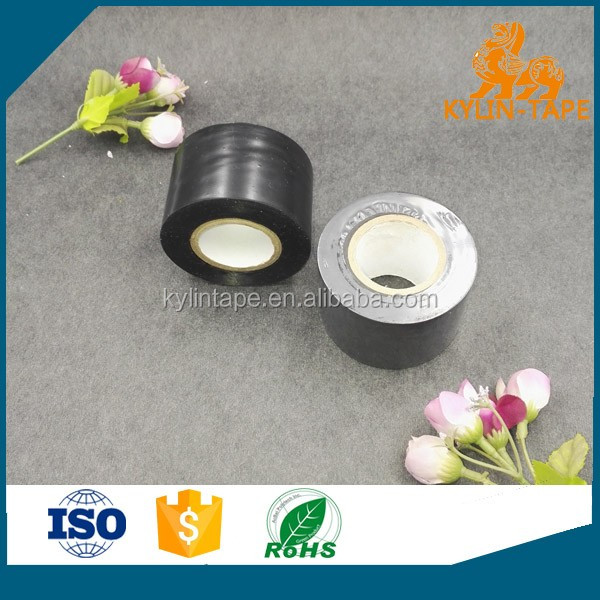 Glossy film black pvc pipe wrapping tape high quality with shrink packing
