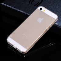 TPU Mobile Bag Flexible Soft Clear TPU Mobile Bag For Iphone 5S With Drawing Wire Pattern