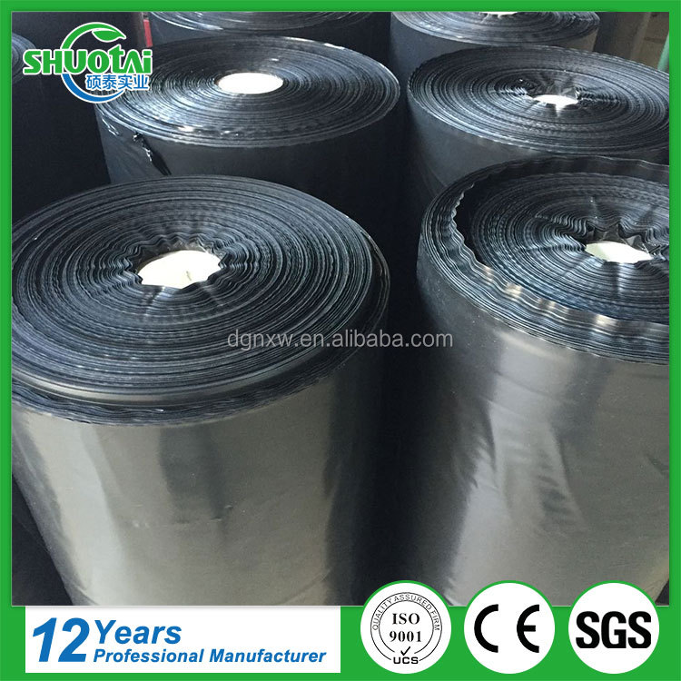 Eco-friendly 100% biodegradable black plastic agricultural polyethylene mulch film suppliers