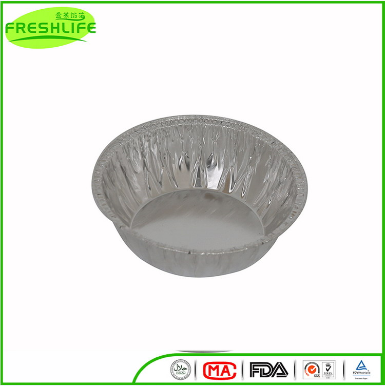 Low price ROUND loaf pan foil container