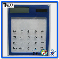 Hot sell novelty design promotional gift desktop pocket transperent mini solar calculator