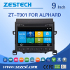 9 inch 2 din car parts accessories for Toyota alphard car radio used auto spare parts with GPS Radio Audio SWC BT AM/FM 3G WIfi