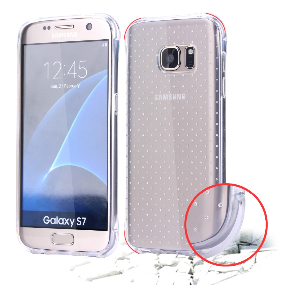 2016 NEW Wholesale Fashion Soft TPU Gel Clear Mobile Phone Case For Samsung Galaxy S7 / S7 Plus Crystal Transparent Cover
