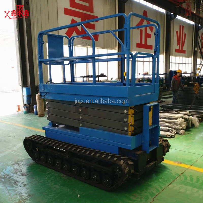 8m height Electric Track Crawler Scissor Lift/Hydraulic Lift Platform for sale