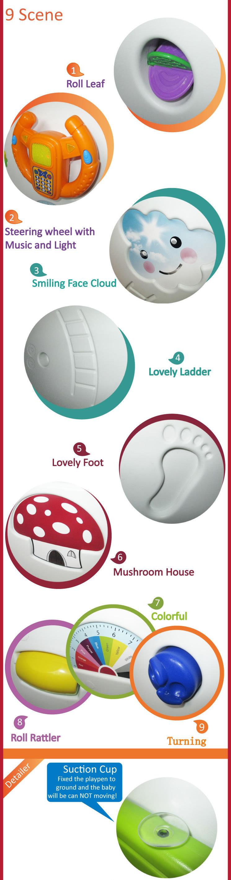 2020 New Design Saftey Game Playpen Kids Plastic Playpen Fence luxury baby playpen