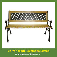 garden bench wooden bench with metal frame with metal back