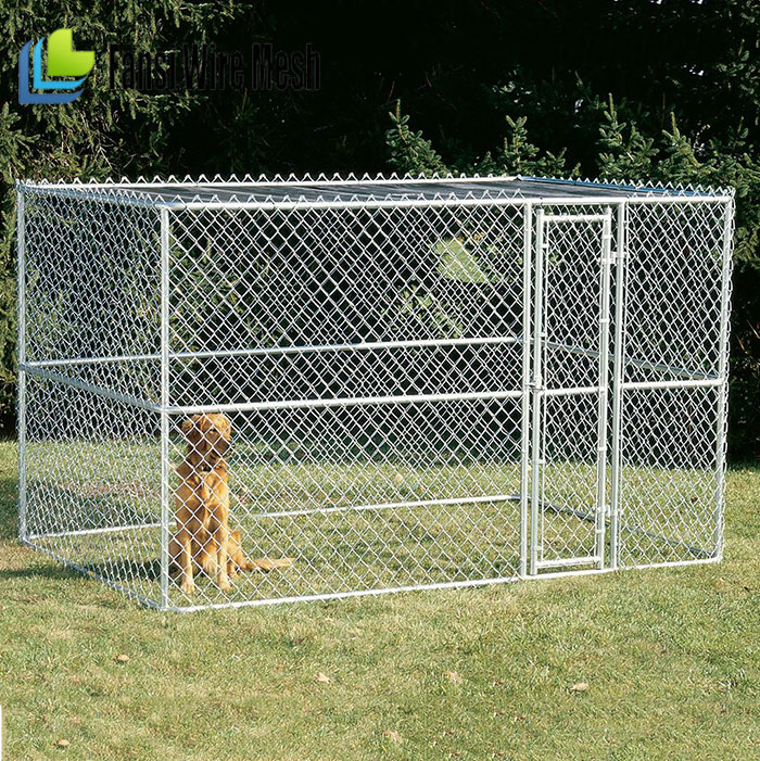 New Design Galvanized Outdoor Pet Cage Dog Kennel for sale