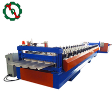 Trapezoidal Corrugated Sheet Metal Panel Roof Tile Making Roll Forming Machine