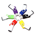 Hot selling custom logo cheapest swivel usb flash drive wholesale