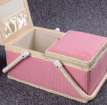 Wholesale Storage Box for Sewing Kit Basket in fabric with handle