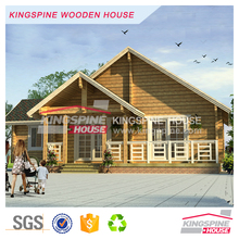 luxury decoration home wooden prefabricated log house in India KPL-094