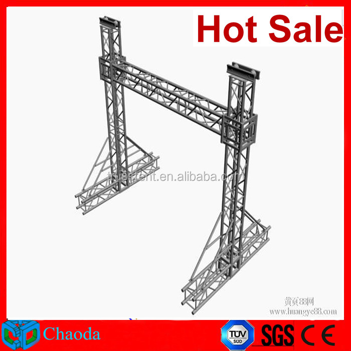 LED screen ground support aluminium box truss