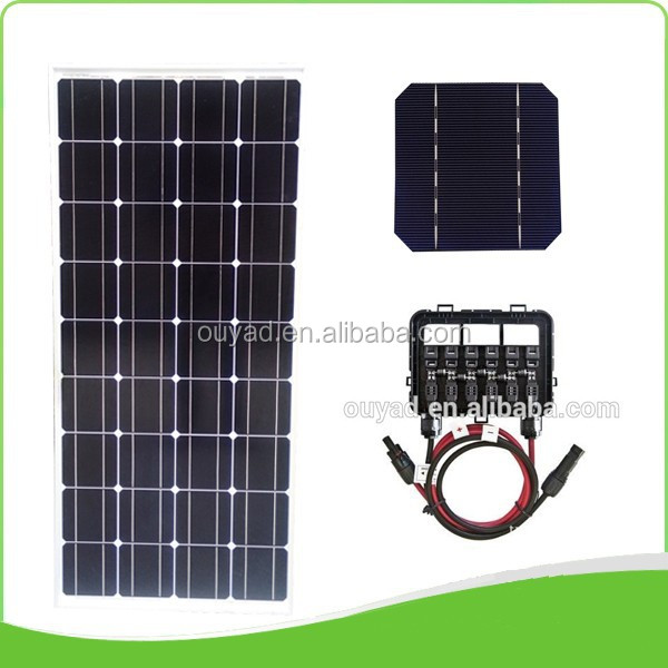 High quality low price Chinese 18V 100W mono solar panel