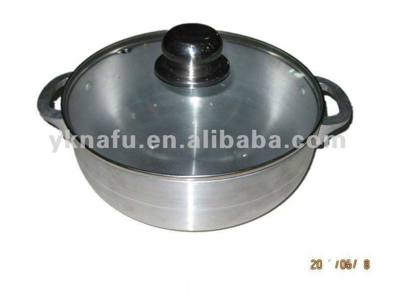 Caldero de utensilios de cocina de aluminio pulido con for Utensilios de cocina de aluminio