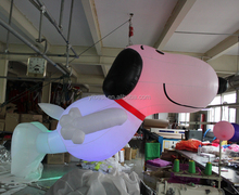 With led light hanging inflatable snoopy dog cartoon,Promotional inflatable dog