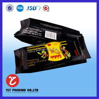 Colorful printing plastic coffee packaging bag/aluminum foil side gusset bag/pouch for coffee beans