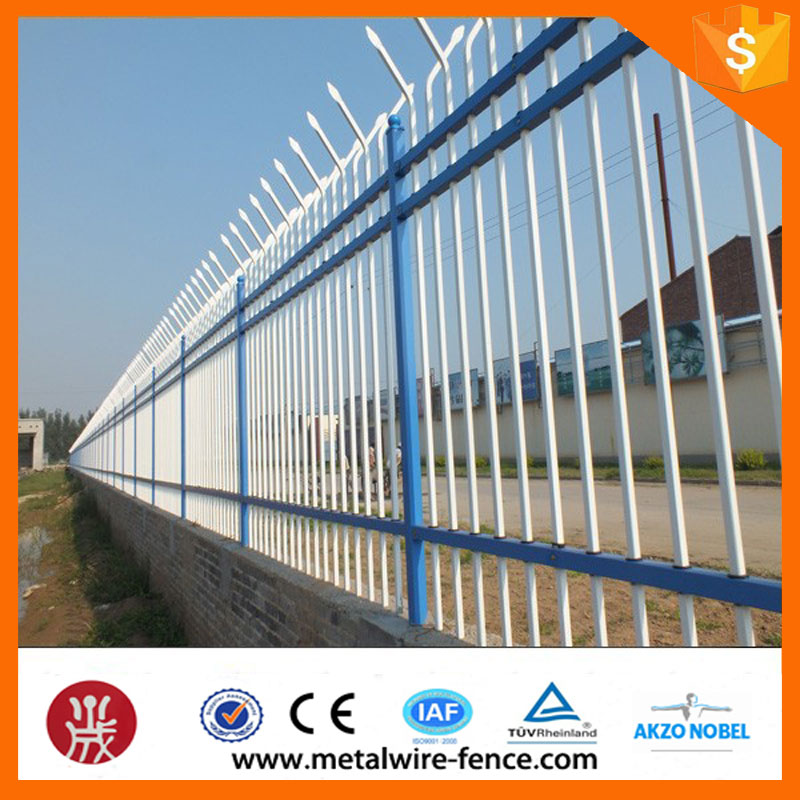 Decorative apartment picket steel fence