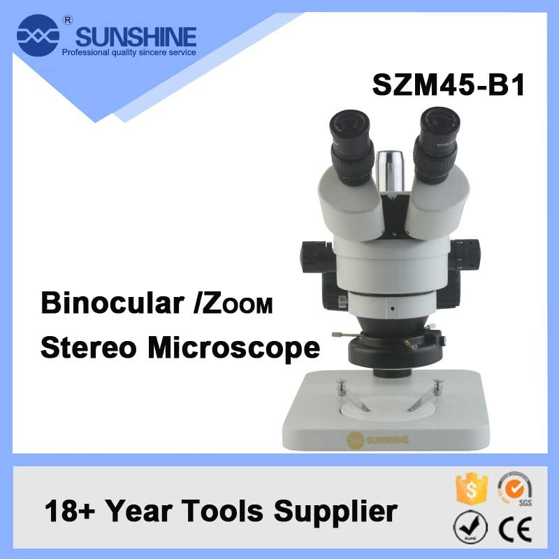 China Supply Binocular Electric Laboratory Microscope With Continuous Zoom Lens