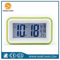 The newest ABS small led digital clock desk led alarm clock