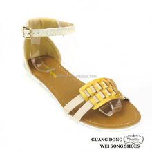 Guangdong supplier latest style outdoor ankle strap iron ornament handmade sandals