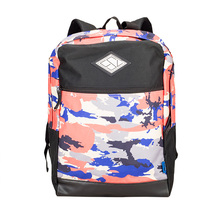 Fashion floral printing woman girls leisure tote backpack with handle