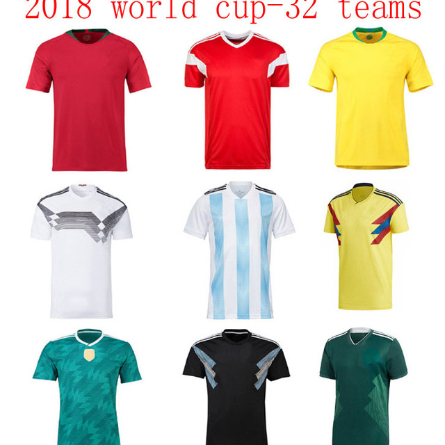 new 2018 world cup all 32 soccer football teams jersey
