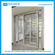 ACG heavy duty grill design with fly screen aluminum patio sliding glass doors