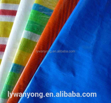 High quality Cheap price colorful stripes pe tarpaulin , waterproof tarps for truck cover / tent / boat / shelter